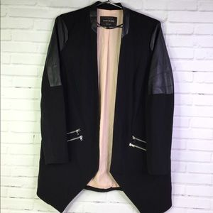 River Island US 10 UK 14 Black Moto Blazer Jacket